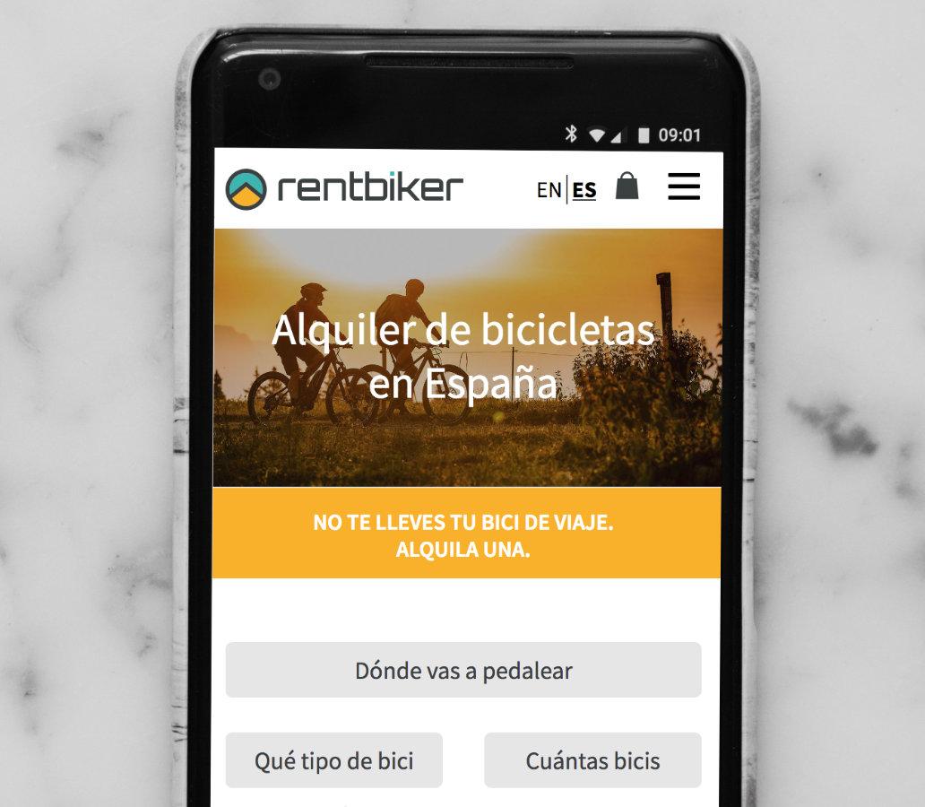 Aplicació web, Rentbiker